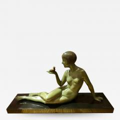 Armand Godard Art Deco Sculpture A Bird in the Hand by Armand Godard - 1388290