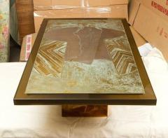 Armand Jonckers Stunning Acid Etched Brass Coffee Table Abstraction by Armand Jonckers - 507340
