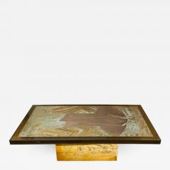 Armand Jonckers Stunning Acid Etched Brass Coffee Table Abstraction by Armand Jonckers - 508693