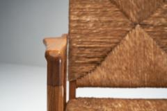 Armchair in Solid Oak and Cane Denmark ca 1960s - 1317672
