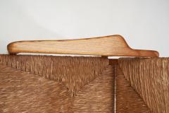 Armchair in Solid Oak and Cane Denmark ca 1960s - 1317673