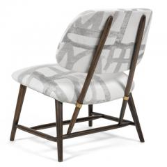 Armless Reupholstered Wood Framed Lounge Chairs - 1083655
