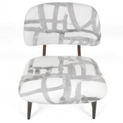 Armless Reupholstered Wood Framed Lounge Chairs - 1083657