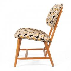 Armless Reupholstered Wood Framed Lounge Chairs - 1083662