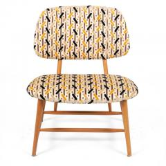 Armless Reupholstered Wood Framed Lounge Chairs - 1083665