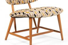 Armless Reupholstered Wood Framed Lounge Chairs - 1083666