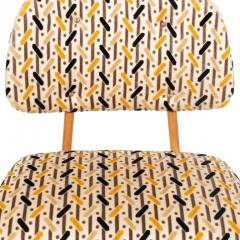Armless Reupholstered Wood Framed Lounge Chairs - 1083667