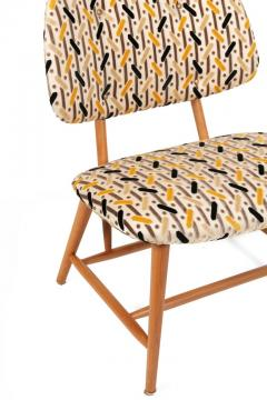 Armless Reupholstered Wood Framed Lounge Chairs - 1083668