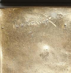 Arnaldo Pomodoro ARNALDO POMODORO CAST SCULPTURAL BRONZE BOX SIGNED II SESTANTE - 1816981