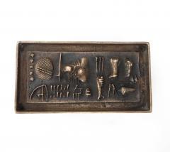 Arnaldo Pomodoro Gio and Arnoldo Pomodoro Cast Sculptural Bronze Box Signed II Sestante - 1173666