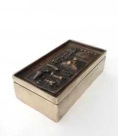 Arnaldo Pomodoro Gio and Arnoldo Pomodoro Cast Sculptural Bronze Box Signed II Sestante - 1173670