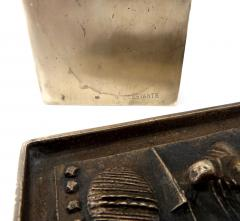 Arnaldo Pomodoro Gio and Arnoldo Pomodoro Cast Sculptural Bronze Box Signed II Sestante - 1173674