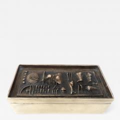 Arnaldo Pomodoro Gio and Arnoldo Pomodoro Cast Sculptural Bronze Box Signed II Sestante - 1174904
