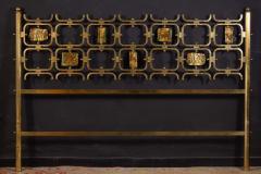 Arnaldo Pomodoro Osvaldo Borsani Elegant Bed with Brass Details by Arnaldo Pomodoro 1950 - 1910396