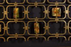 Arnaldo Pomodoro Osvaldo Borsani Elegant Bed with Brass Details by Arnaldo Pomodoro 1950 - 1910399