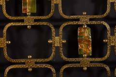 Arnaldo Pomodoro Osvaldo Borsani Elegant Bed with Brass Details by Arnaldo Pomodoro 1950 - 1910401
