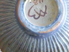 Arne Bang Arne Bang Mid Century Scandinavian Ribbed Ceramic Bowl 1930s - 946700