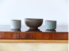 Arne Bang Arne Bang Mid Century Scandinavian Ribbed Ceramic Bowl 1930s - 946702