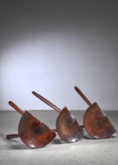 Arne Hovmand Olsen Arne Hovmand Olsen set of three tripod stools - 1640916