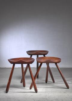Arne Hovmand Olsen Arne Hovmand Olsen set of three tripod stools - 1640918