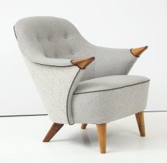 Arne Hovmand Olsen Pair of Danish Tub Back Lounge Chairs by Arne Hovmand Olsen circa 1960s - 1123898
