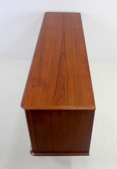 Arne Hovmand Olsen Scandinavian Modern Tambour Door Teak Credenza Designed by Arne Hovmand Olsen - 1148556
