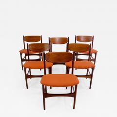 Arne Hovmand Olsen Set Of Six Danish Modern Dining Chairs Designed By Arne  Hovmand Olsen