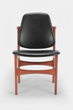 Arne Hovmand Olsen Set with 6 chairs Arne Hovmand Olsen 50s teak leather - 1719852