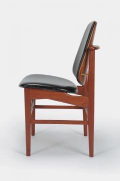 Arne Hovmand Olsen Set with 6 chairs Arne Hovmand Olsen 50s teak leather - 1719853