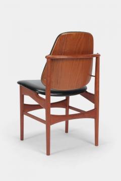 Arne Hovmand Olsen Set with 6 chairs Arne Hovmand Olsen 50s teak leather - 1719854