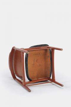 Arne Hovmand Olsen Set with 6 chairs Arne Hovmand Olsen 50s teak leather - 1719856