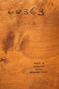 Arne Hovmand Olsen Set with 6 chairs Arne Hovmand Olsen 50s teak leather - 1719859