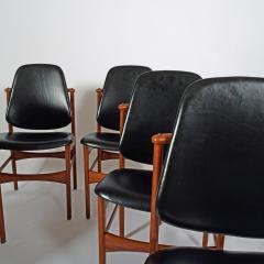 Arne Hovmand Olsen Teak six dining chairs Arne Hovman Olsen - 1268539