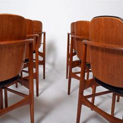 Arne Hovmand Olsen Teak six dining chairs Arne Hovman Olsen - 1268541