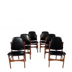 Arne Hovmand Olsen Teak six dining chairs Arne Hovman Olsen - 1268542