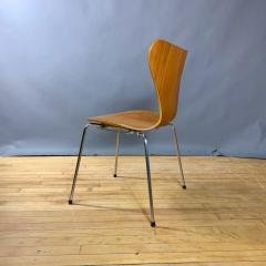 Arne Jacobsen 1978 Set of Arne Jacobsen Series 7 Teak Dining Chairs Fritz Hansen Denmark - 1405236