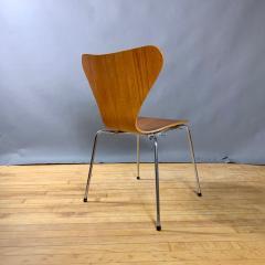 Arne Jacobsen 1978 Set of Arne Jacobsen Series 7 Teak Dining Chairs Fritz Hansen Denmark - 1405237