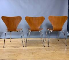 Arne Jacobsen 1978 Set of Arne Jacobsen Series 7 Teak Dining Chairs Fritz Hansen Denmark - 1405240