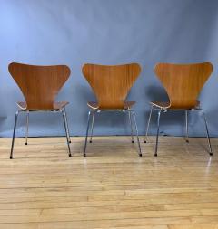 Arne Jacobsen 1978 Set of Arne Jacobsen Series 7 Teak Dining Chairs Fritz Hansen Denmark - 1405244