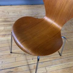 Arne Jacobsen 1978 Set of Arne Jacobsen Series 7 Teak Dining Chairs Fritz Hansen Denmark - 1405245