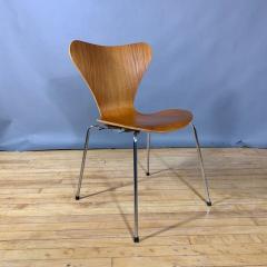 Arne Jacobsen 1978 Set of Arne Jacobsen Series 7 Teak Dining Chairs Fritz Hansen Denmark - 1405247