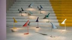 Arne Jacobsen Arne Jacobsen AJ Mini Table Lamp in Original Grey for Louis Poulsen - 1458698