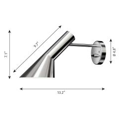 Arne Jacobsen Arne Jacobsen AJ Wall Light for Louis Poulsen in Stainless Steel - 1458183