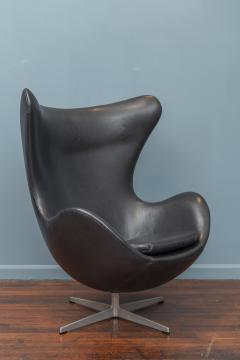 Arne Jacobsen Arne Jacobsen Leather Egg Chair for Fritz Hansen - 1714274