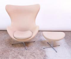 Arne Jacobsen Arne Jacobsen for Fritz Hansen Egg Chair and Ottoman Distributed by Knoll - 1689215