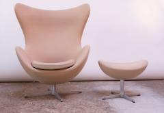 Arne Jacobsen Arne Jacobsen for Fritz Hansen Egg Chair and Ottoman Distributed by Knoll - 1689216