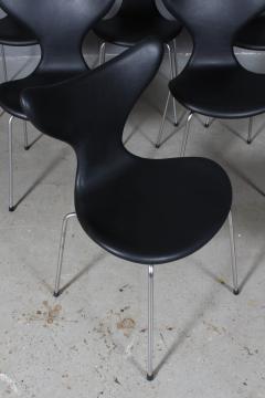 Arne Jacobsen Arne Jacobsen set of six 3108 Liljen Chairs aniline leather - 2050123