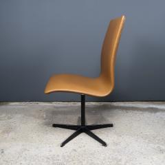 Arne Jacobsen Early Arne Jacobsen Oxford Chair in Cognac Leather Fritz Hansen c1970 - 2141769