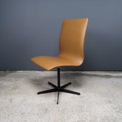 Arne Jacobsen Early Arne Jacobsen Oxford Chair in Cognac Leather Fritz Hansen c1970 - 2141772