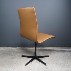 Arne Jacobsen Early Arne Jacobsen Oxford Chair in Cognac Leather Fritz Hansen c1970 - 2141774